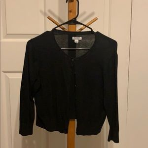 Black old navy cropped cardigan
